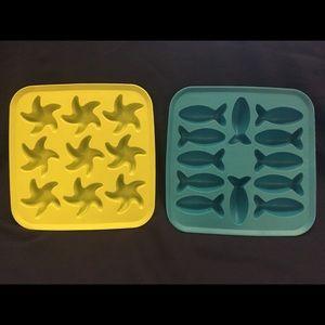 IKEA Kitchen - Two IKEA Candy Butter Water Molds Starfish Fish